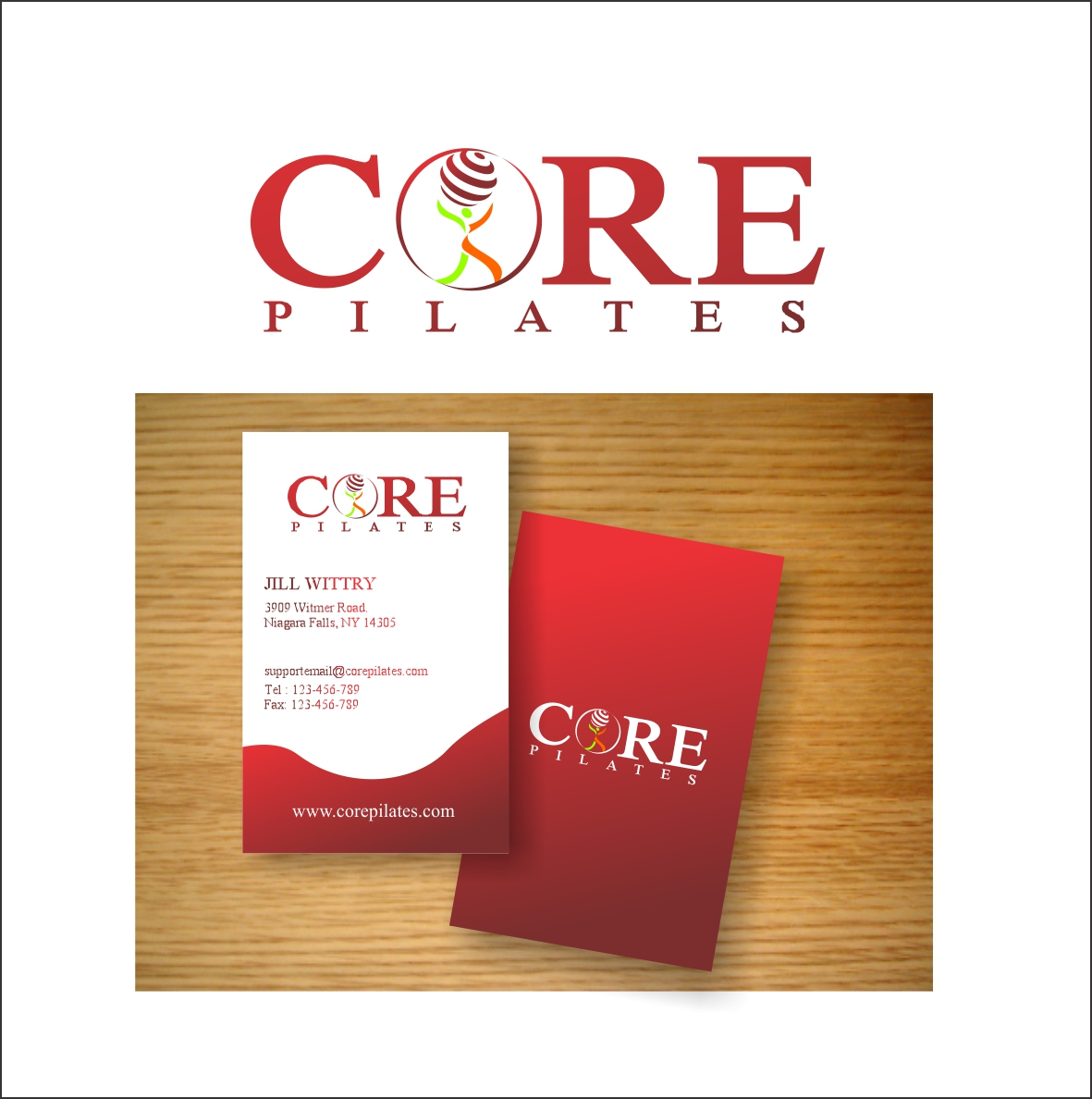 Logo Design by Hudy Wake - Entry No. 71 in the Logo Design Contest Core Pilates Logo Design.