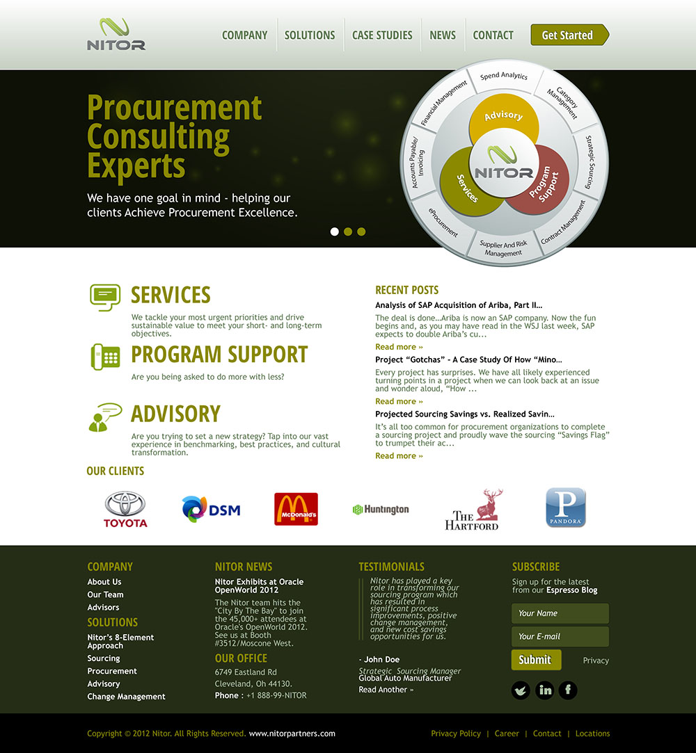 Web Page Design by scorpy - Entry No. 4 in the Web Page Design Contest Nitor Partners Web Page Design.
