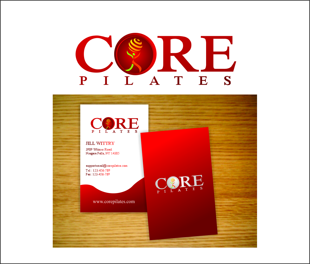 Logo Design by Hudy Wake - Entry No. 87 in the Logo Design Contest Core Pilates Logo Design.