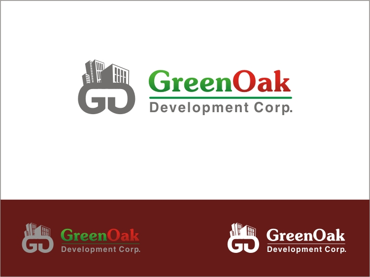 Logo Design by RED HORSE design studio - Entry No. 85 in the Logo Design Contest Unique Logo Design Wanted for Green Oak Development Corp..