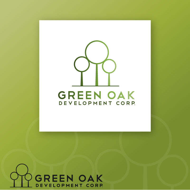 Logo Design by trav - Entry No. 90 in the Logo Design Contest Unique Logo Design Wanted for Green Oak Development Corp..
