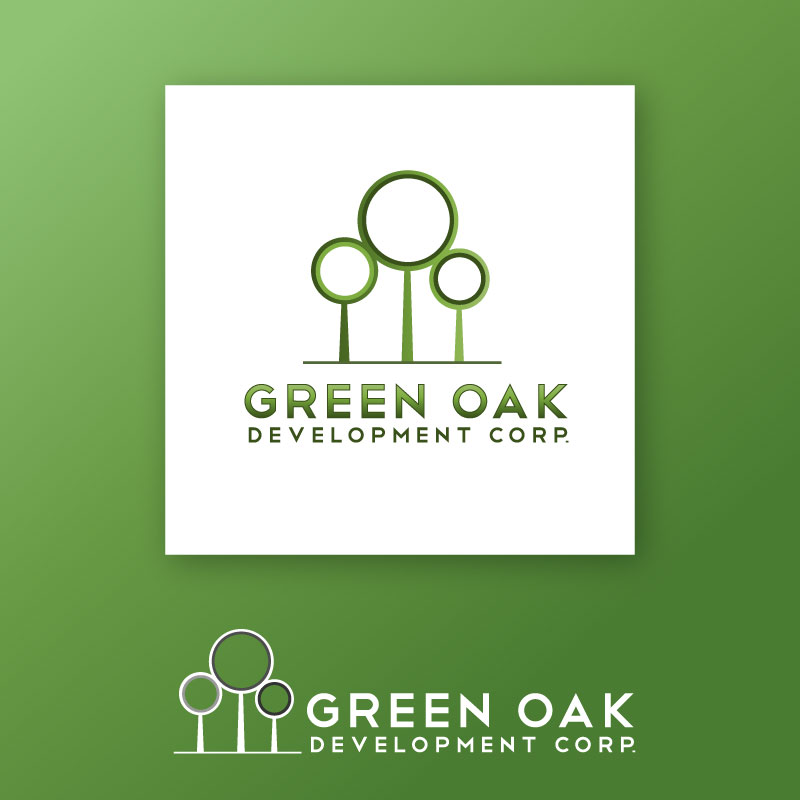Logo Design by trav - Entry No. 92 in the Logo Design Contest Unique Logo Design Wanted for Green Oak Development Corp..