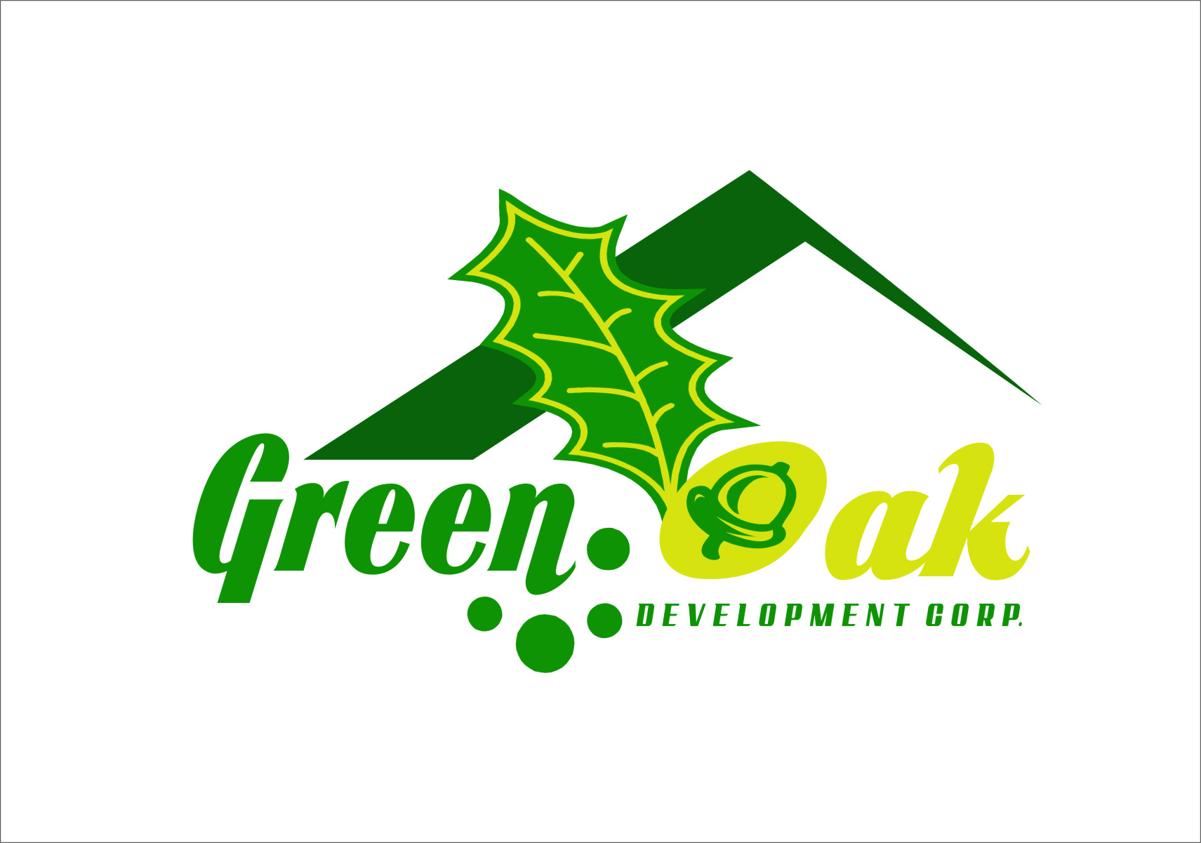 Logo Design by Ngepet_art - Entry No. 93 in the Logo Design Contest Unique Logo Design Wanted for Green Oak Development Corp..