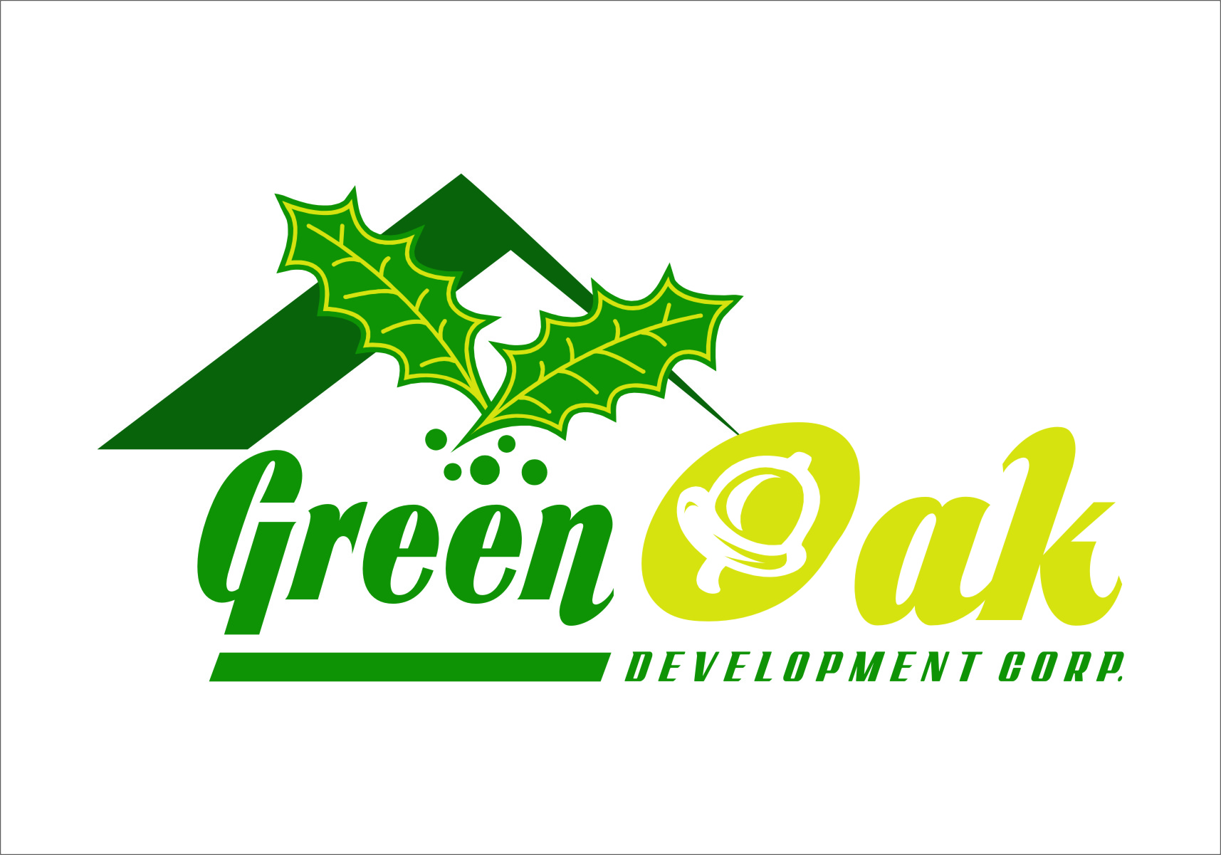 Logo Design by Ngepet_art - Entry No. 94 in the Logo Design Contest Unique Logo Design Wanted for Green Oak Development Corp..