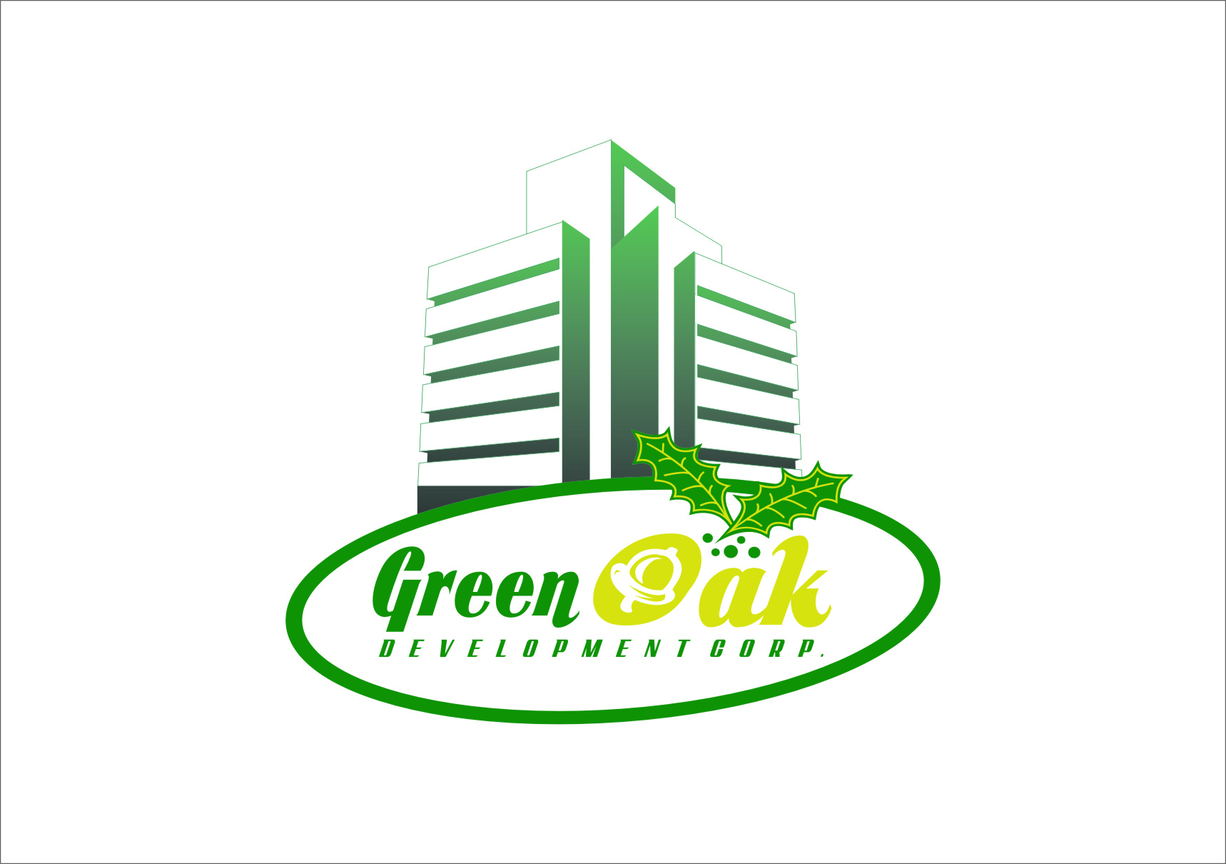 Logo Design by RasYa Muhammad Athaya - Entry No. 96 in the Logo Design Contest Unique Logo Design Wanted for Green Oak Development Corp..