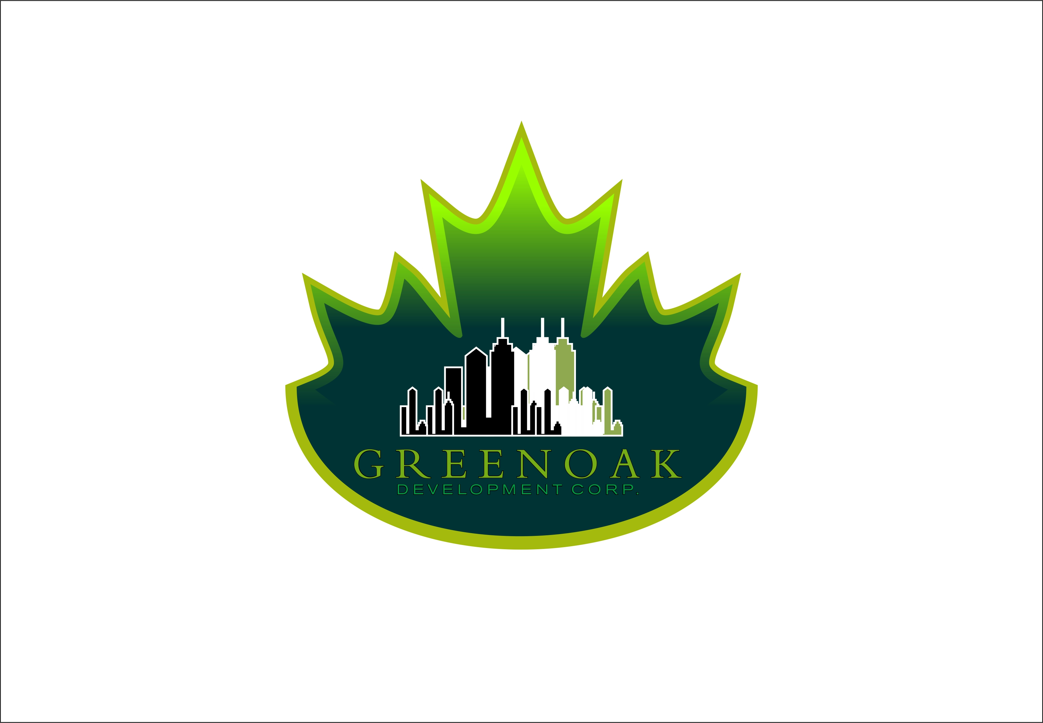 Logo Design by Fatih Ercan - Entry No. 101 in the Logo Design Contest Unique Logo Design Wanted for Green Oak Development Corp..