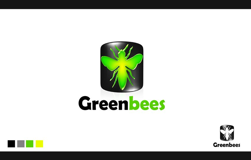 Logo Design by Respati Himawan - Entry No. 8 in the Logo Design Contest Greenbees Logo Design.