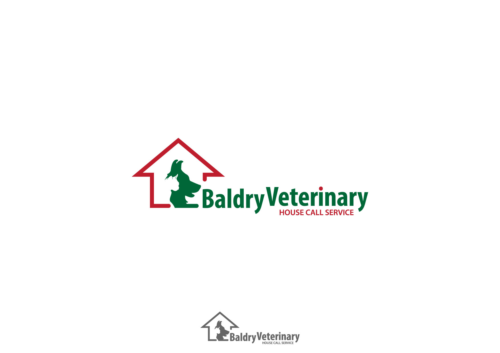 Logo Design by Nurgalih Destianto - Entry No. 21 in the Logo Design Contest Captivating Logo Design for Baldry Veterinary House Call Service.