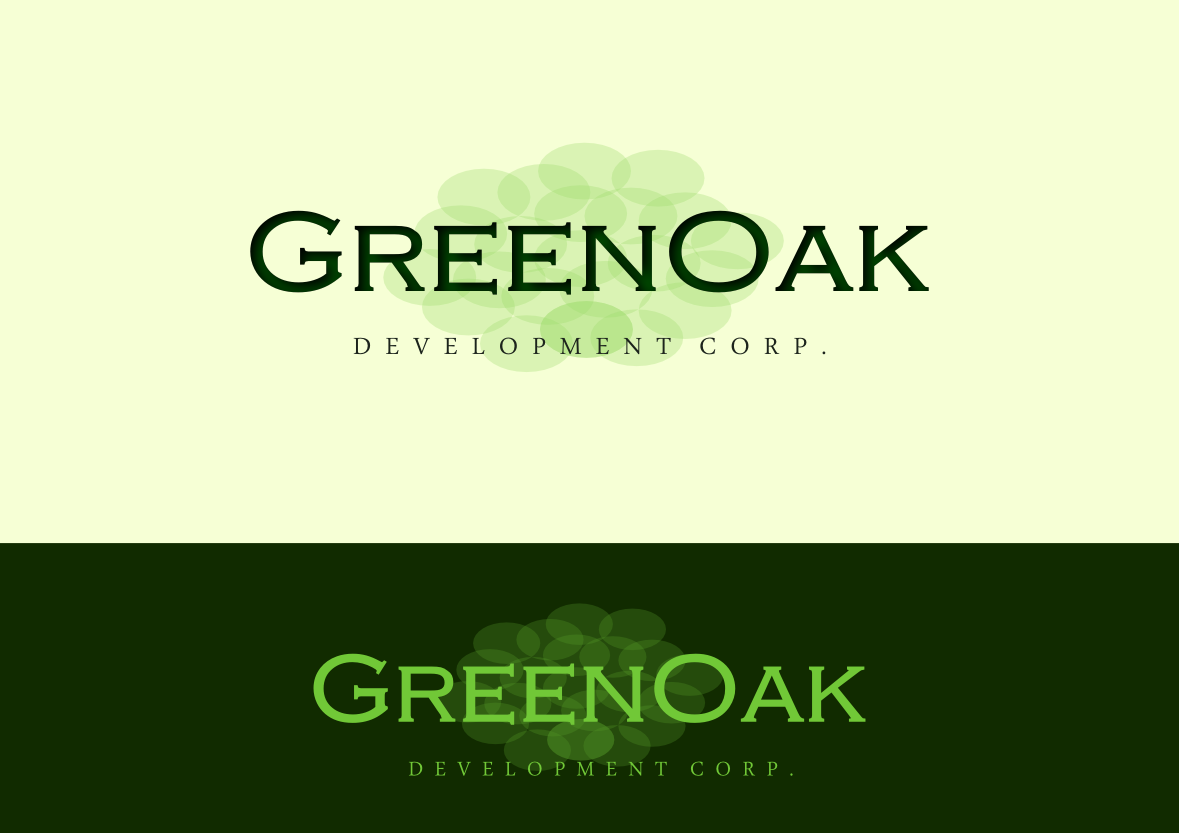 Logo Design by whoosef - Entry No. 102 in the Logo Design Contest Unique Logo Design Wanted for Green Oak Development Corp..