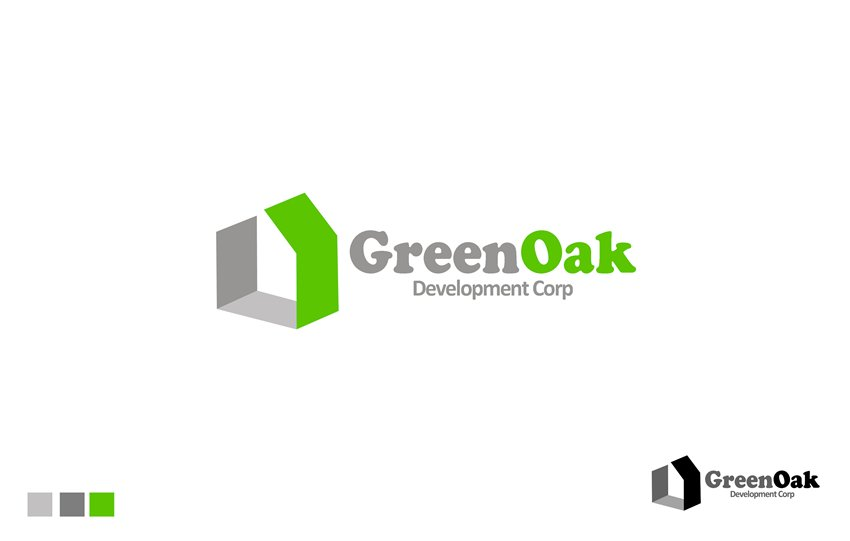 Logo Design by Respati Himawan - Entry No. 103 in the Logo Design Contest Unique Logo Design Wanted for Green Oak Development Corp..