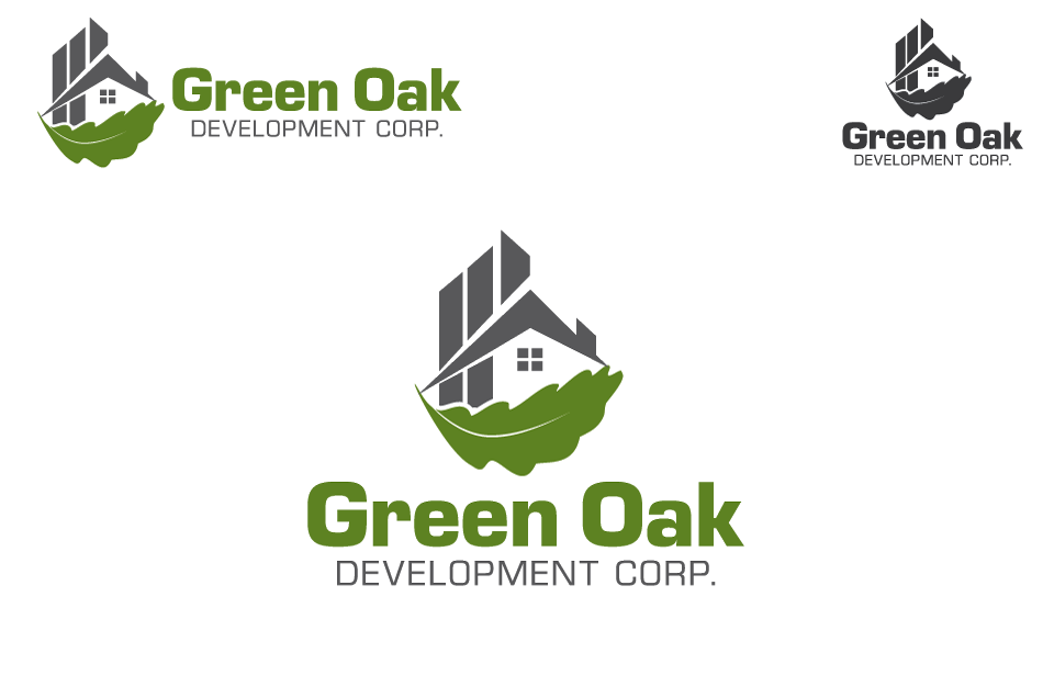Logo Design by Dipin Bishwakarma - Entry No. 104 in the Logo Design Contest Unique Logo Design Wanted for Green Oak Development Corp..