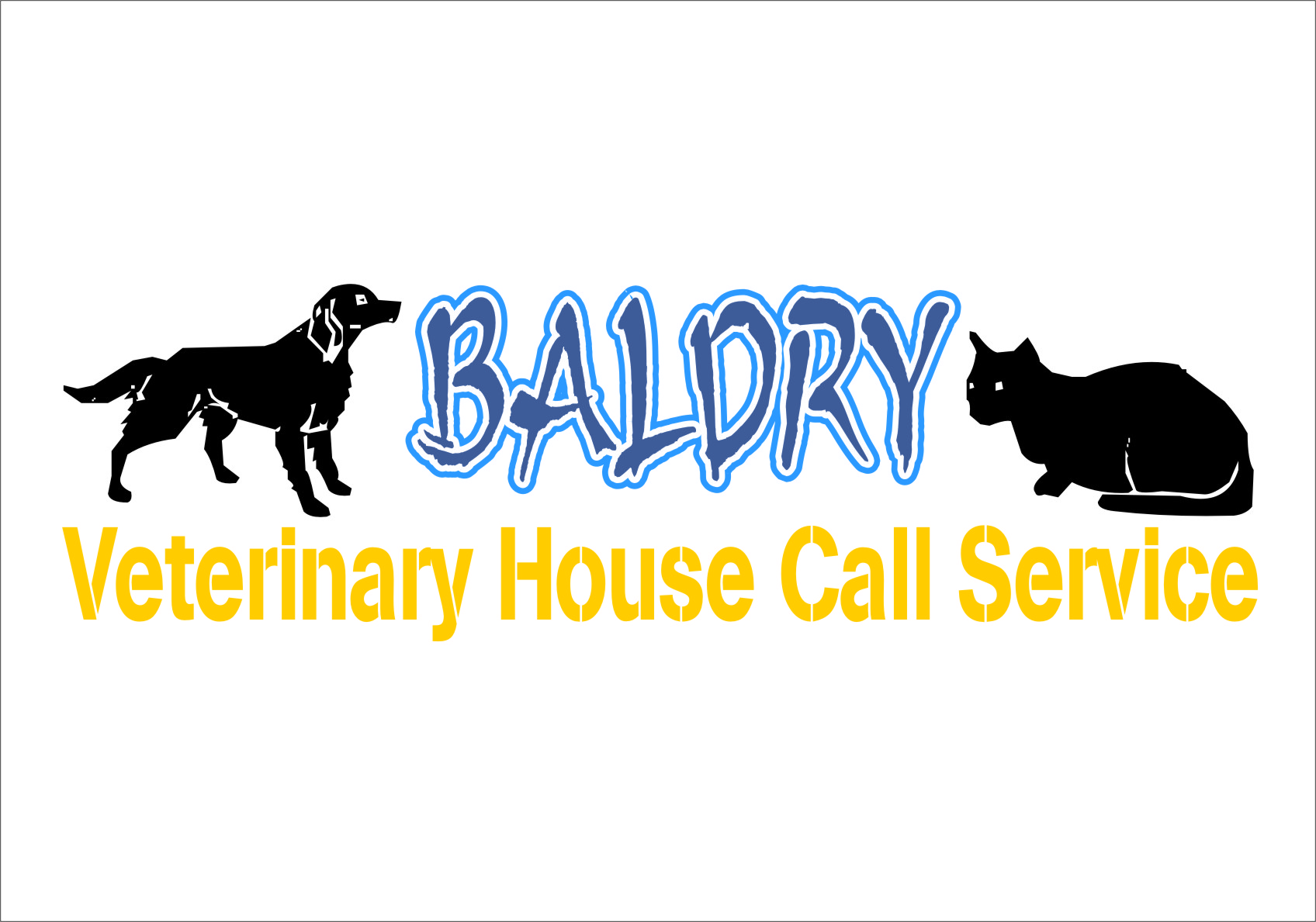 Logo Design by Ngepet_art - Entry No. 23 in the Logo Design Contest Captivating Logo Design for Baldry Veterinary House Call Service.