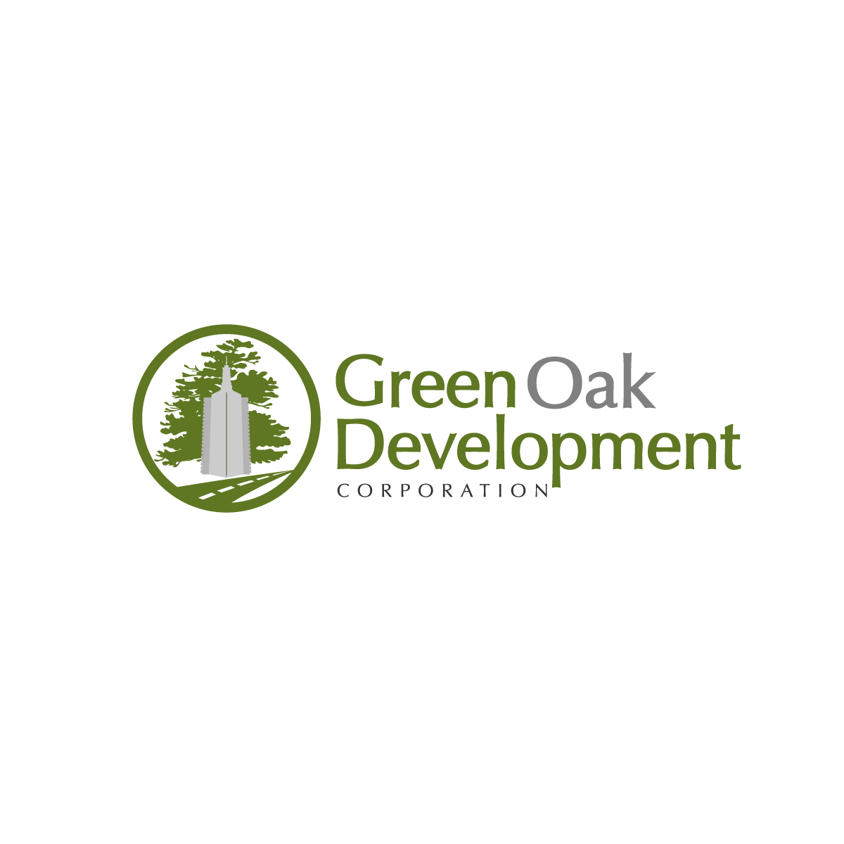 Logo Design by rockin - Entry No. 113 in the Logo Design Contest Unique Logo Design Wanted for Green Oak Development Corp..