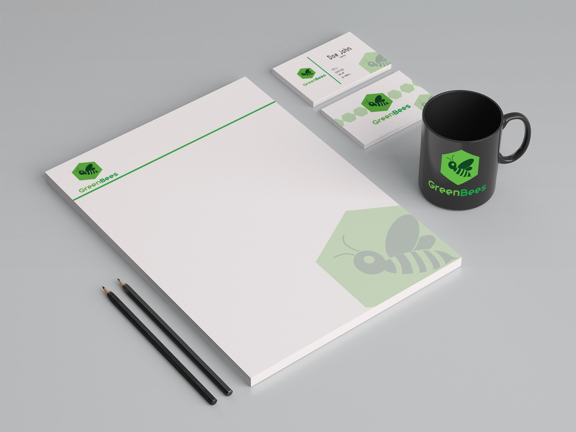 Logo Design by Private User - Entry No. 18 in the Logo Design Contest Greenbees Logo Design.