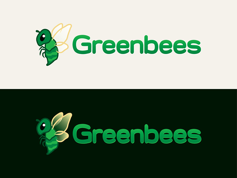 Logo Design by scorpy - Entry No. 19 in the Logo Design Contest Greenbees Logo Design.