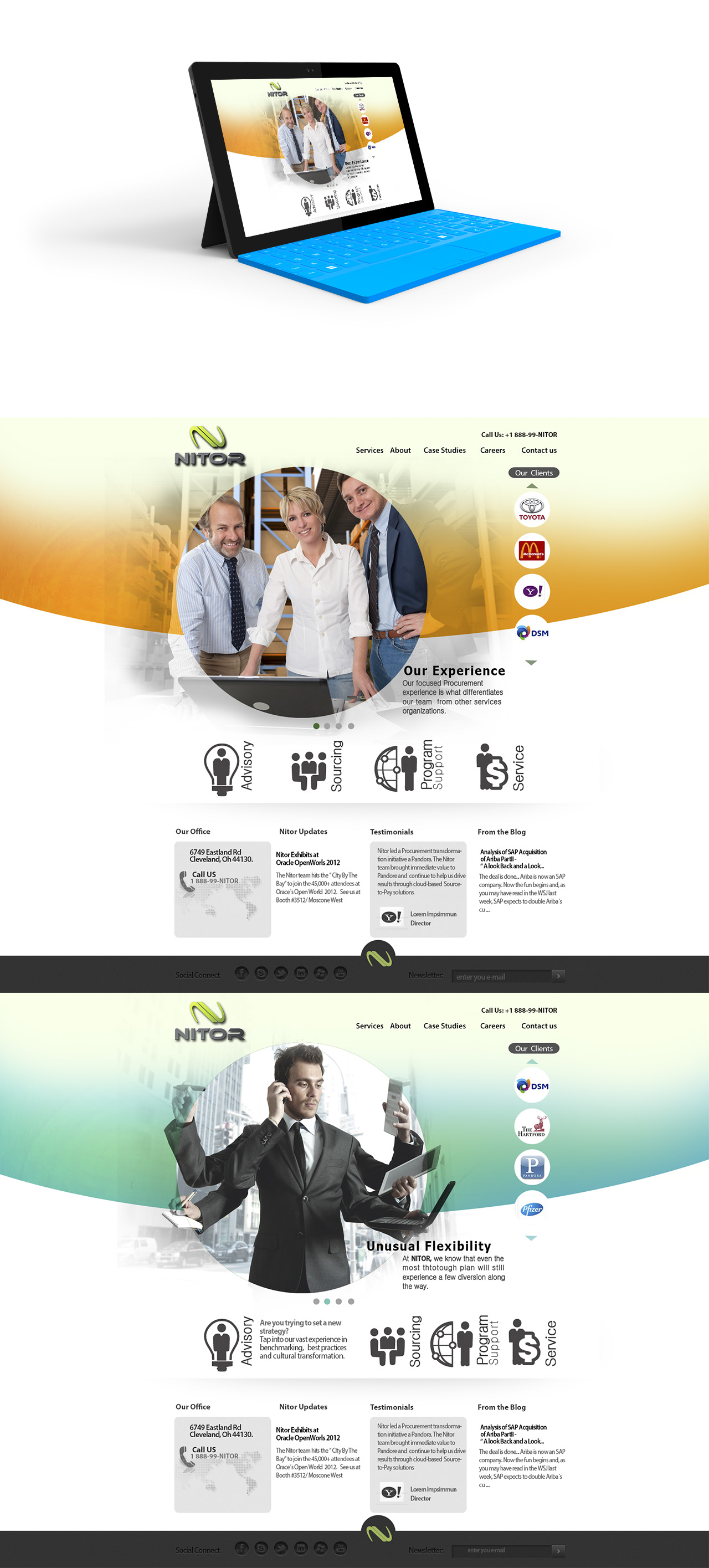 Web Page Design by Oliver WangHo - Entry No. 16 in the Web Page Design Contest Nitor Partners Web Page Design.