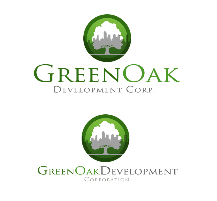Logo Design by elmd - Entry No. 116 in the Logo Design Contest Unique Logo Design Wanted for Green Oak Development Corp..