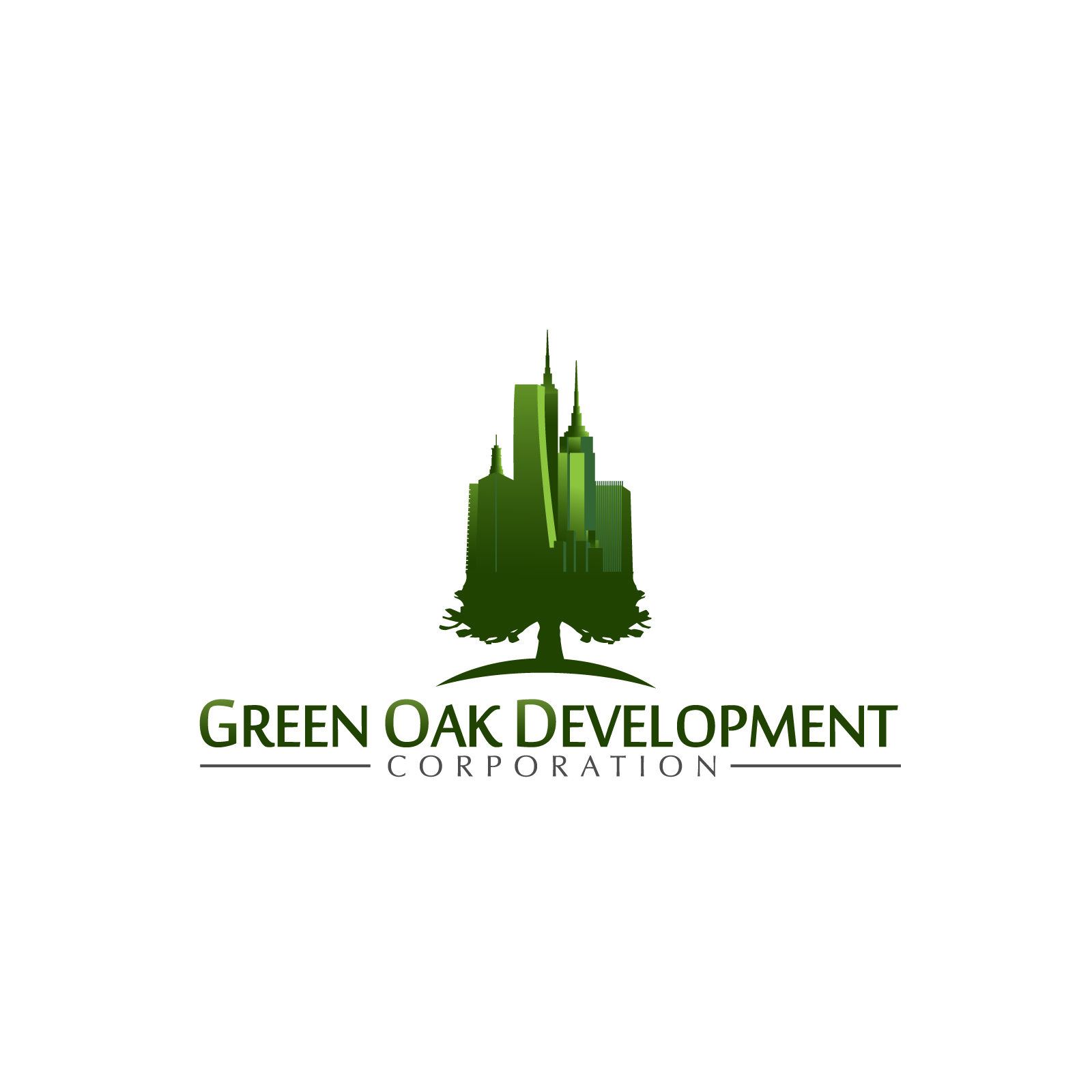 Logo Design by rockin - Entry No. 121 in the Logo Design Contest Unique Logo Design Wanted for Green Oak Development Corp..