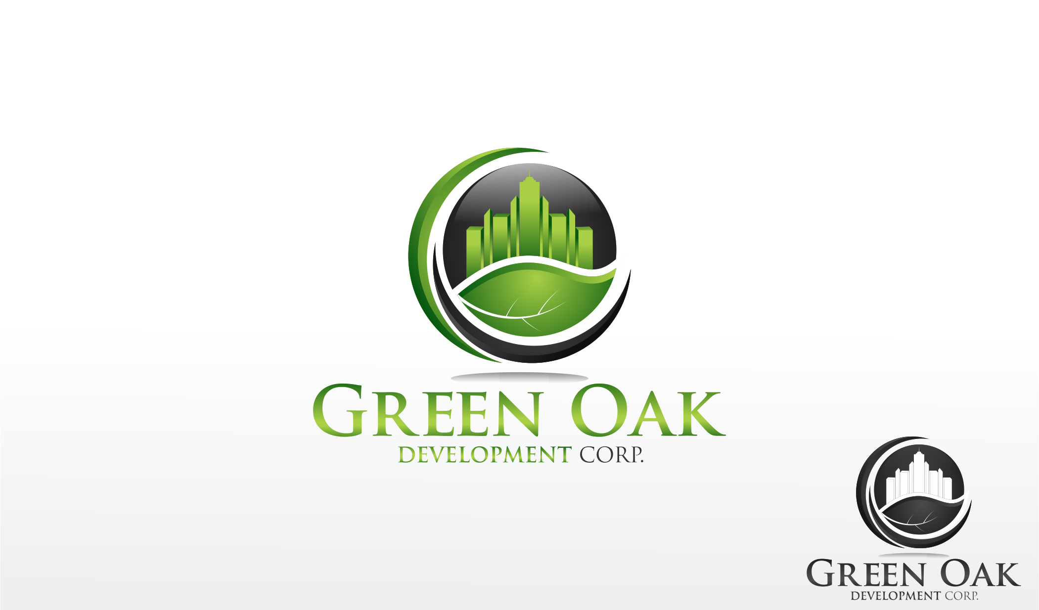 Logo Design by Dicky Kurniadi Hari Saputro - Entry No. 123 in the Logo Design Contest Unique Logo Design Wanted for Green Oak Development Corp..