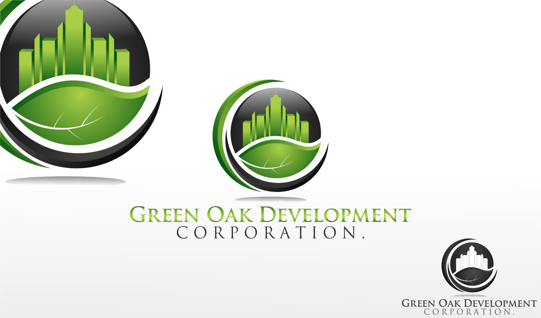 Logo Design by Dicky Kurniadi Hari Saputro - Entry No. 124 in the Logo Design Contest Unique Logo Design Wanted for Green Oak Development Corp..