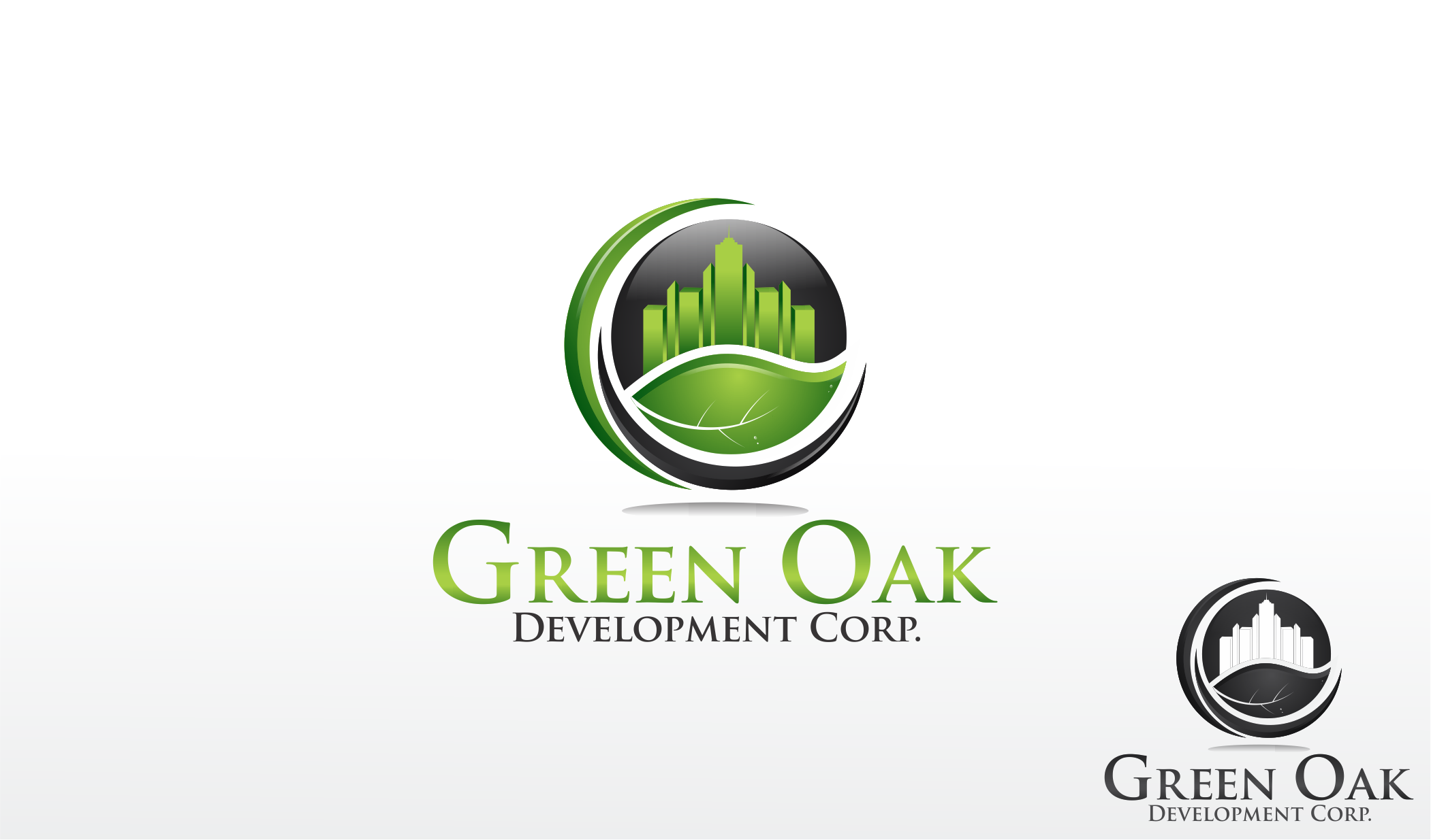 Logo Design by Dicky Kurniadi Hari Saputro - Entry No. 125 in the Logo Design Contest Unique Logo Design Wanted for Green Oak Development Corp..