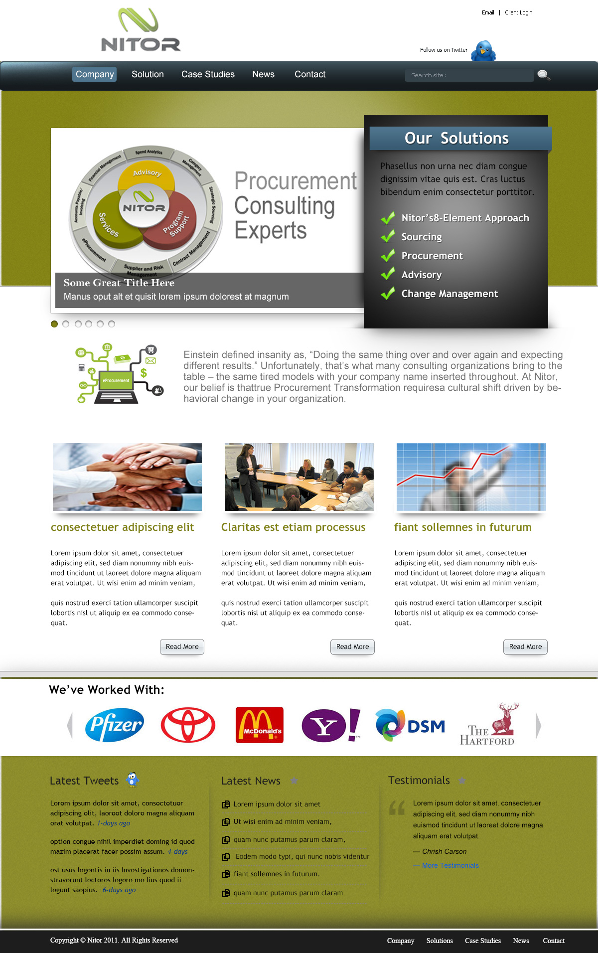 Web Page Design by Private User - Entry No. 19 in the Web Page Design Contest Nitor Partners Web Page Design.