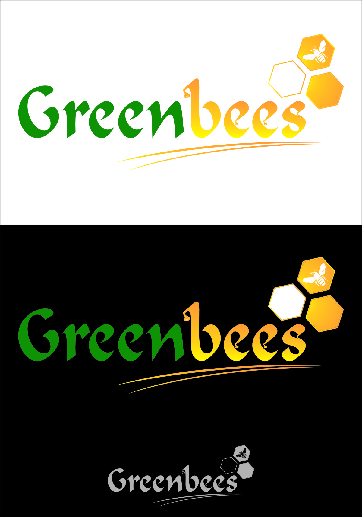 Logo Design by Ngepet_art - Entry No. 39 in the Logo Design Contest Greenbees Logo Design.