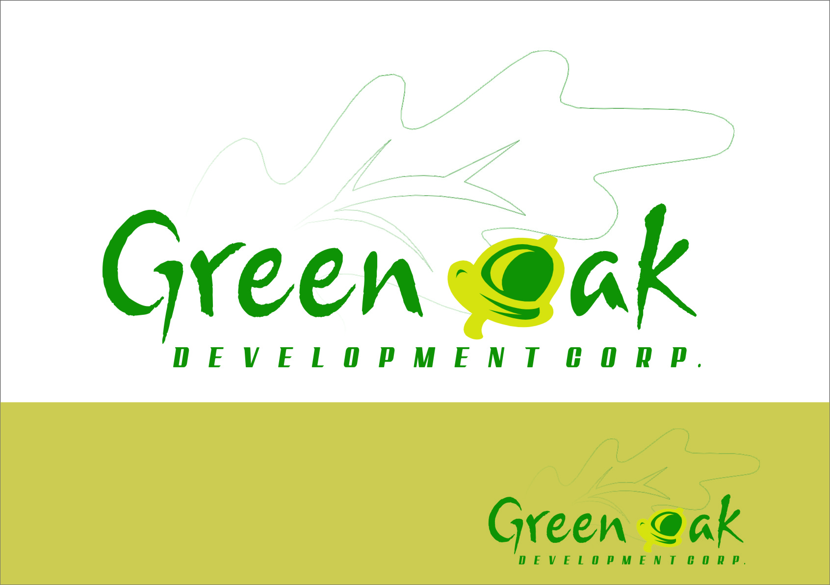 Logo Design by RoSyid Rono-Rene On Java - Entry No. 126 in the Logo Design Contest Unique Logo Design Wanted for Green Oak Development Corp..