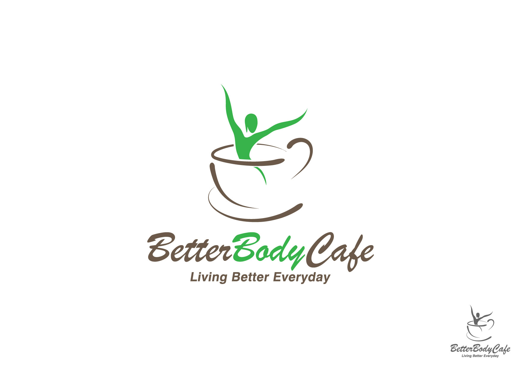 Logo Design by Nurgalih Destianto - Entry No. 16 in the Logo Design Contest New Logo Design for Better Body Cafe.