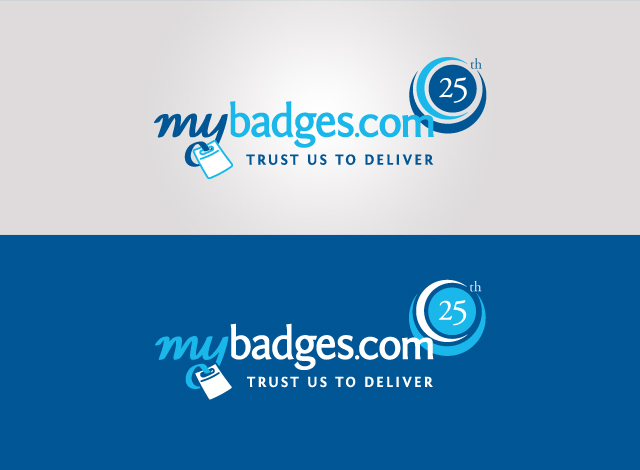 Logo Design by Private User - Entry No. 5 in the Logo Design Contest 25th Anniversary Logo Design Wanted for MyBadges.com.