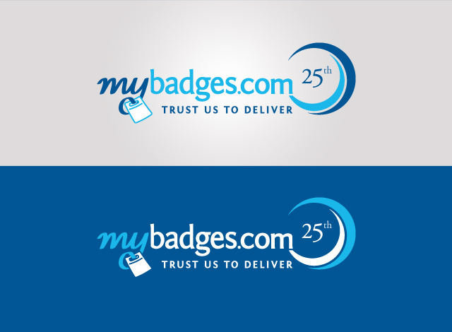 Logo Design by Private User - Entry No. 7 in the Logo Design Contest 25th Anniversary Logo Design Wanted for MyBadges.com.