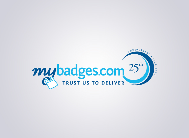 Logo Design by Private User - Entry No. 8 in the Logo Design Contest 25th Anniversary Logo Design Wanted for MyBadges.com.