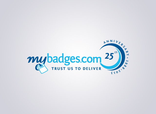 Logo Design by Private User - Entry No. 9 in the Logo Design Contest 25th Anniversary Logo Design Wanted for MyBadges.com.