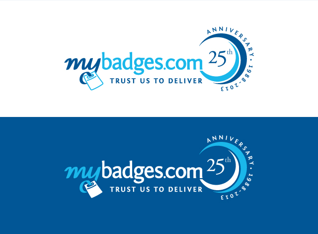 Logo Design by Private User - Entry No. 10 in the Logo Design Contest 25th Anniversary Logo Design Wanted for MyBadges.com.