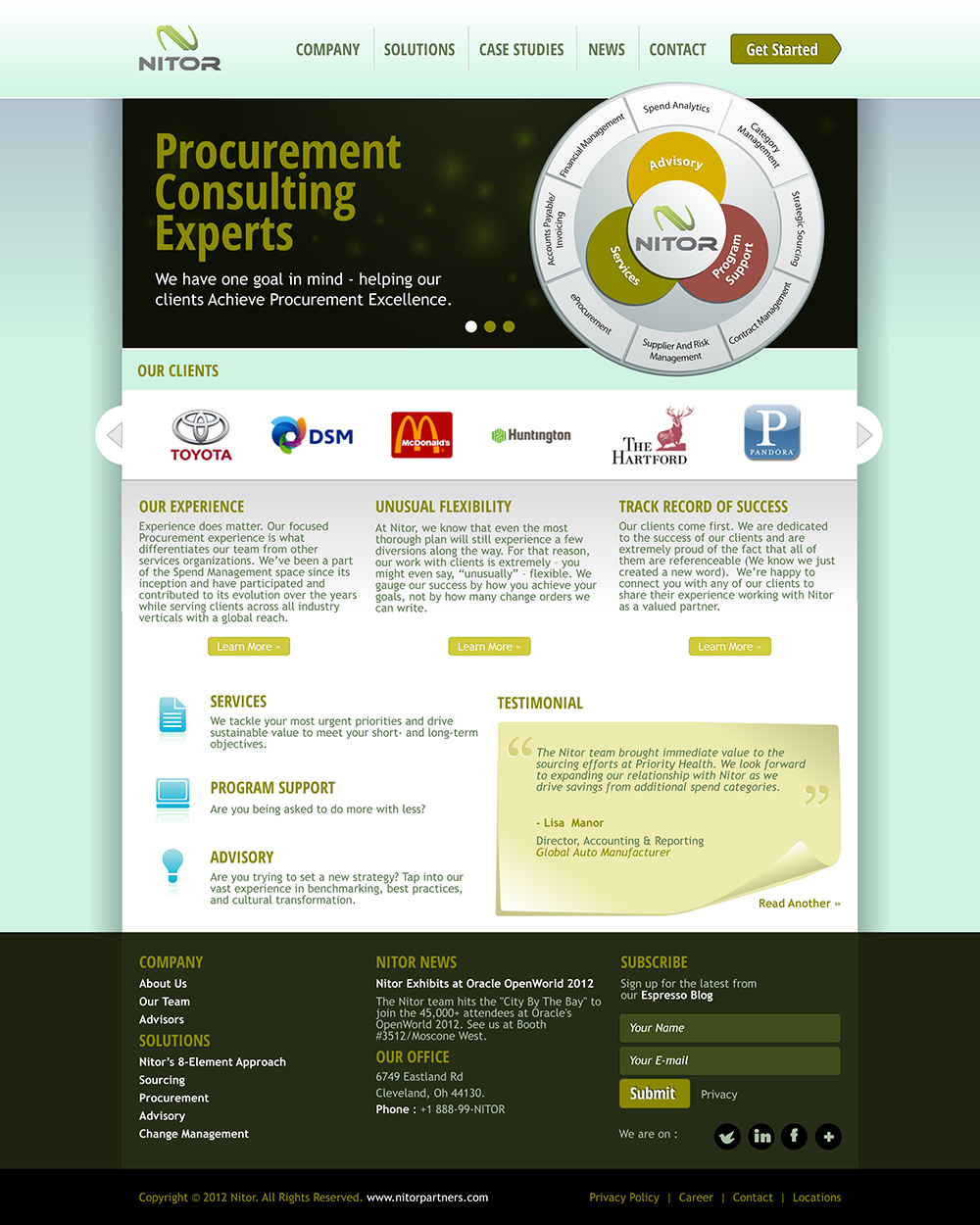 Web Page Design by scorpy - Entry No. 20 in the Web Page Design Contest Nitor Partners Web Page Design.