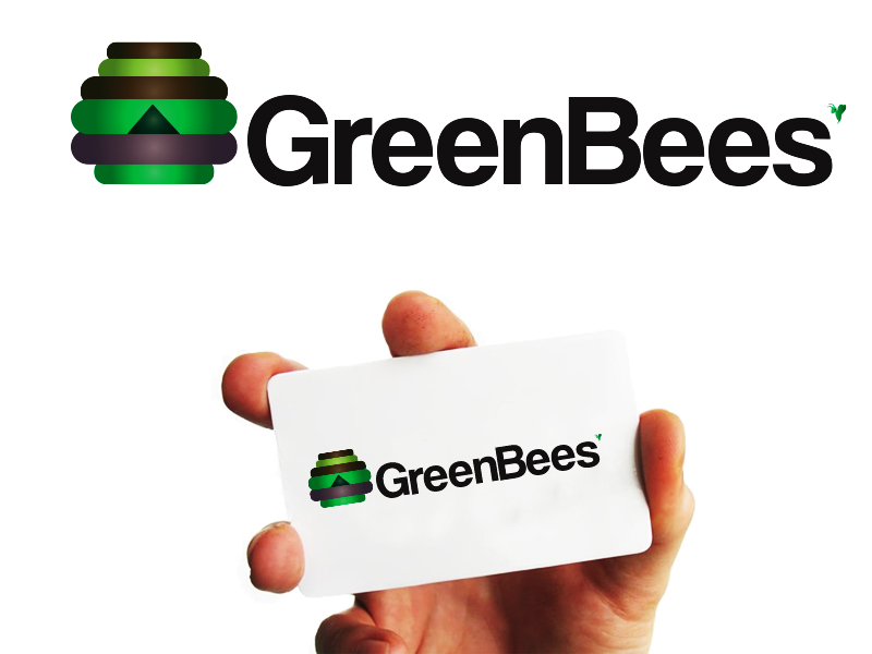Logo Design by Mythos Designs - Entry No. 42 in the Logo Design Contest Greenbees Logo Design.
