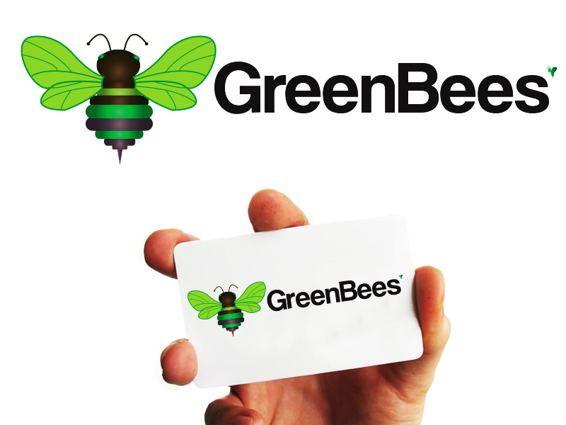 Logo Design by Mythos Designs - Entry No. 43 in the Logo Design Contest Greenbees Logo Design.