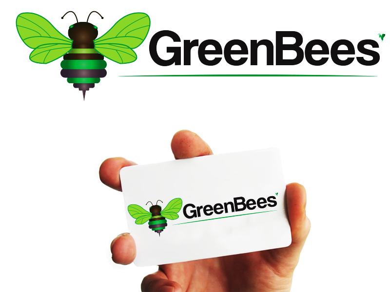 Logo Design by Mythos Designs - Entry No. 44 in the Logo Design Contest Greenbees Logo Design.