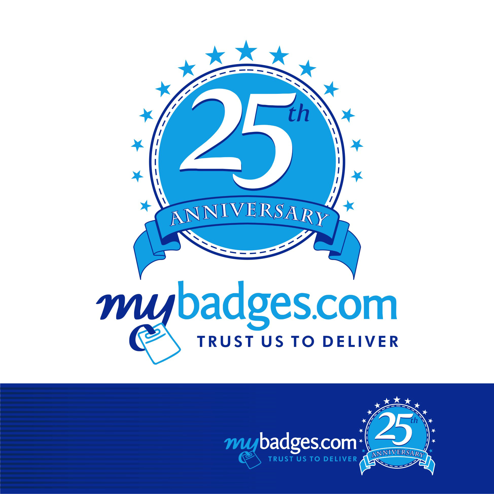 Logo Design by Private User - Entry No. 14 in the Logo Design Contest 25th Anniversary Logo Design Wanted for MyBadges.com.