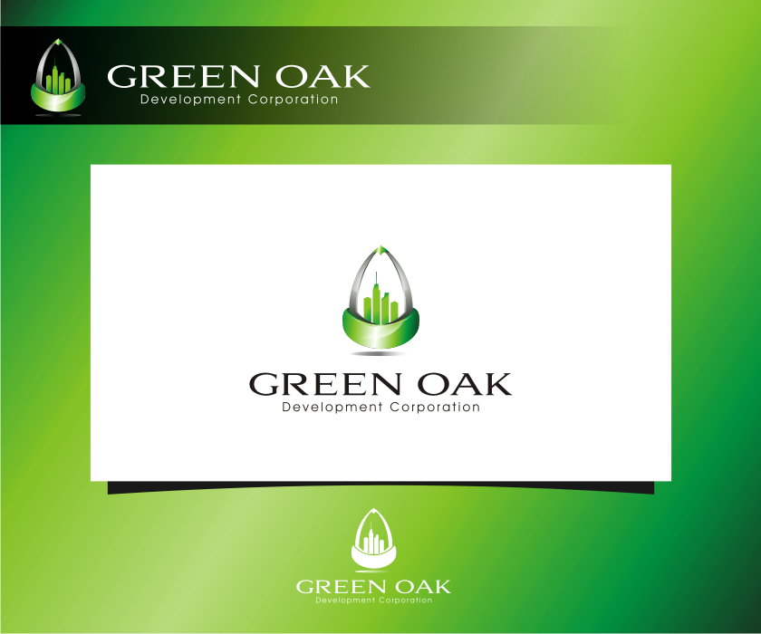 Logo Design by graphicleaf - Entry No. 128 in the Logo Design Contest Unique Logo Design Wanted for Green Oak Development Corp..