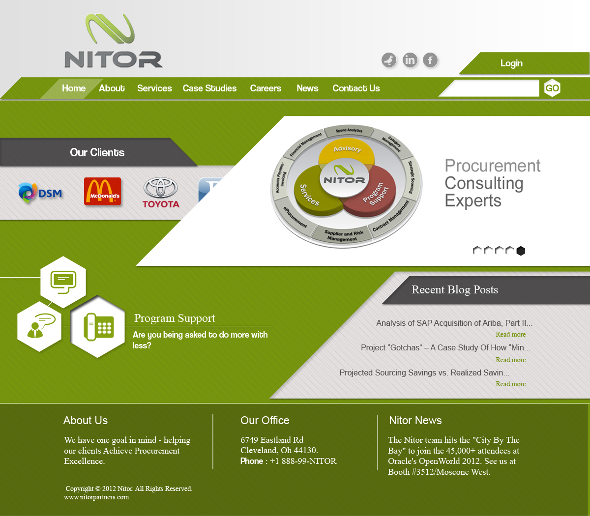 Web Page Design by Juan Paulo Manalo - Entry No. 22 in the Web Page Design Contest Nitor Partners Web Page Design.