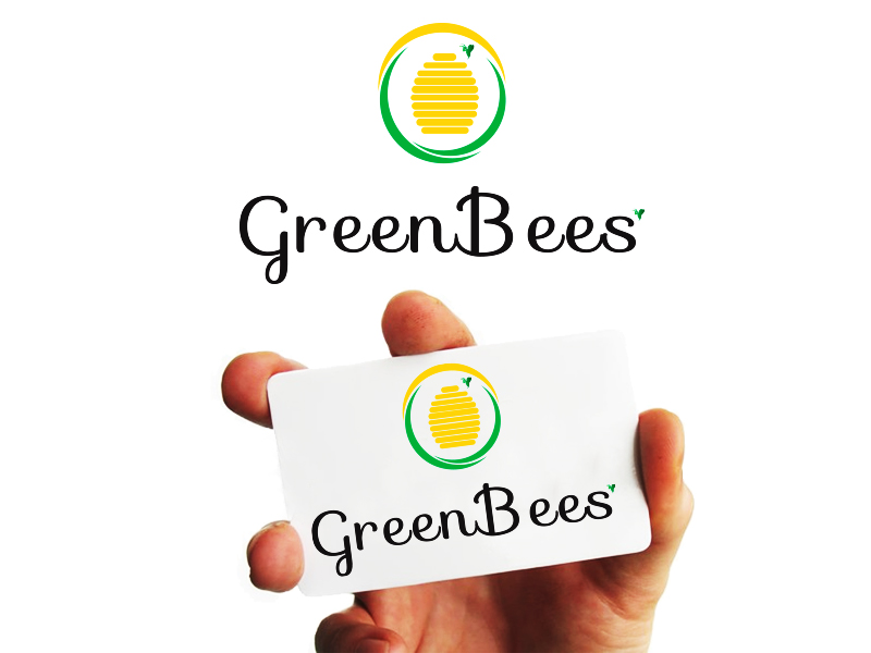 Logo Design by Mythos Designs - Entry No. 50 in the Logo Design Contest Greenbees Logo Design.