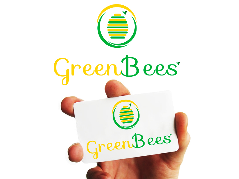 Logo Design by Mythos Designs - Entry No. 51 in the Logo Design Contest Greenbees Logo Design.