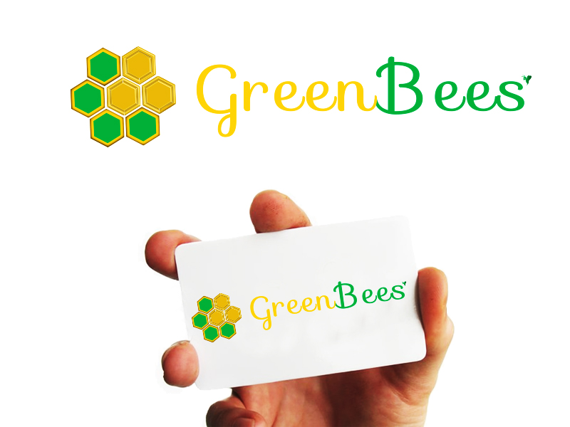 Logo Design by Mythos Designs - Entry No. 53 in the Logo Design Contest Greenbees Logo Design.