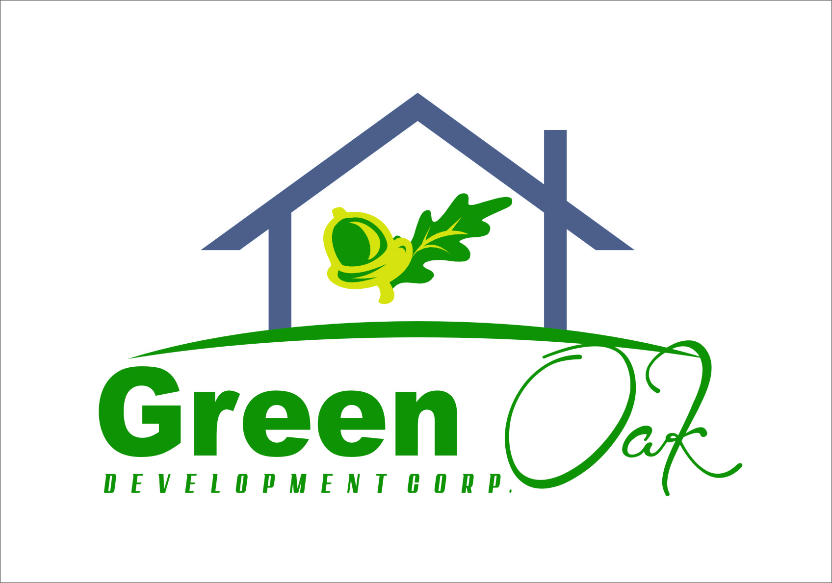 Logo Design by RasYa Muhammad Athaya - Entry No. 131 in the Logo Design Contest Unique Logo Design Wanted for Green Oak Development Corp..