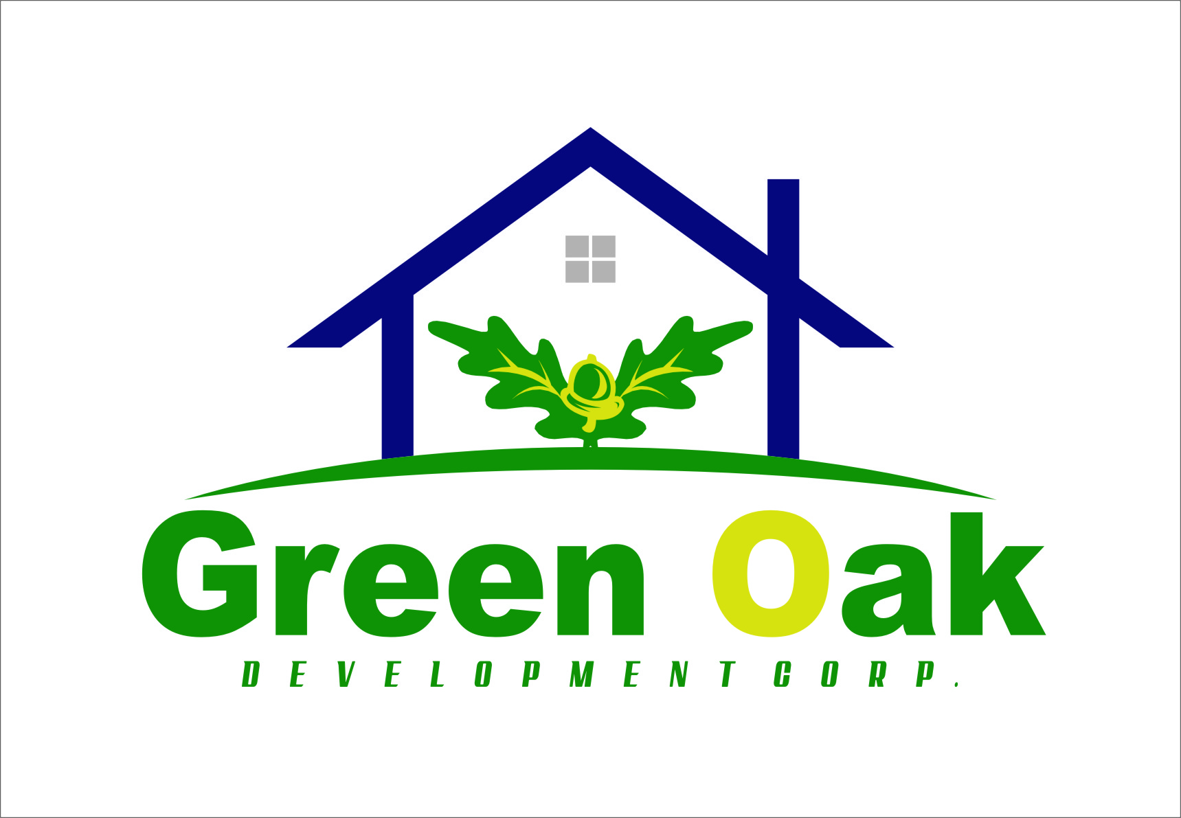 Logo Design by RasYa Muhammad Athaya - Entry No. 132 in the Logo Design Contest Unique Logo Design Wanted for Green Oak Development Corp..