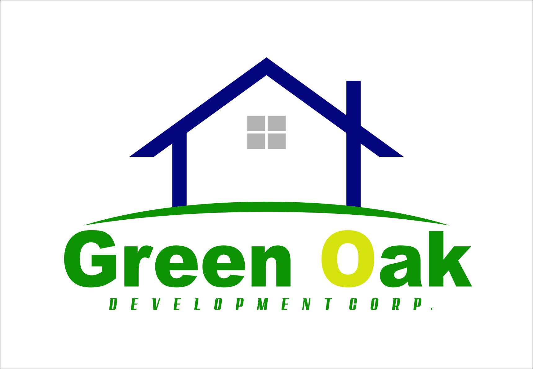 Logo Design by Ngepet_art - Entry No. 133 in the Logo Design Contest Unique Logo Design Wanted for Green Oak Development Corp..