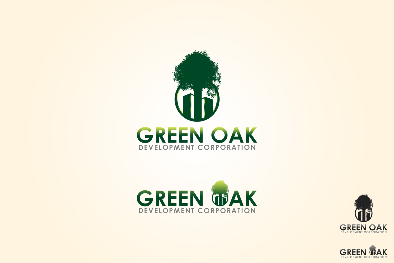 Logo Design by Qoaldjsk - Entry No. 136 in the Logo Design Contest Unique Logo Design Wanted for Green Oak Development Corp..