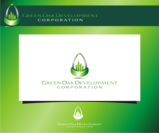 Logo Design by Muhammad Nasrul chasib - Entry No. 138 in the Logo Design Contest Unique Logo Design Wanted for Green Oak Development Corp..