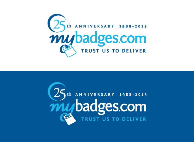 Logo Design by Private User - Entry No. 24 in the Logo Design Contest 25th Anniversary Logo Design Wanted for MyBadges.com.